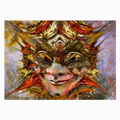 Star Clown Glasses Cloth (large, Two Sided)