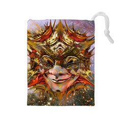 Star Clown Drawstring Pouch (Large)