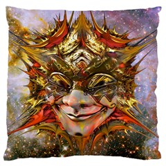 Star Clown Large Flano Cushion Case (two Sides)