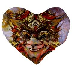Star Clown 19  Premium Flano Heart Shape Cushion