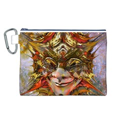 Star Clown Canvas Cosmetic Bag (Large)