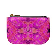 Beautiful Pink Coral  Coin Change Purse