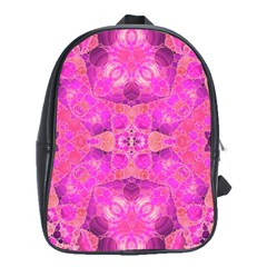 Beautiful Pink Coral  School Bag (large)
