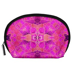 Beautiful Pink Coral  Accessory Pouch (large)