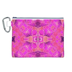 Beautiful Pink Coral  Canvas Cosmetic Bag (large)