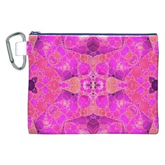 Beautiful Pink Coral  Canvas Cosmetic Bag (XXL)