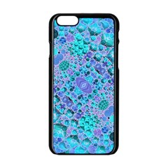 Turquoise Abstract  Apple iPhone 6 Black Enamel Case