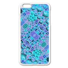 Turquoise Abstract  Apple iPhone 6 Plus Enamel White Case