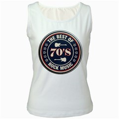 The Best Of  70 s Rock Music Women s Tank Top (white)