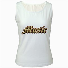 Music Old  Women s Tank Top (white)
