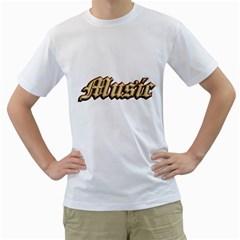 Music Old  Men s T-Shirt (White)