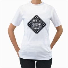 Rock Zone Metal Women s T-Shirt (White)