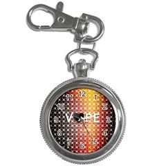 Vape Retro Pattern  Key Chain Watch
