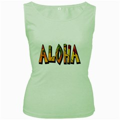 Aloha Decoration Women s Tank Top (green)