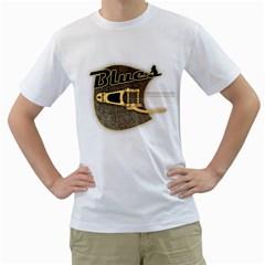 Blues  Rusty  Guitar Men s T-Shirt (White)