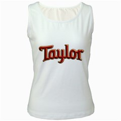 Taylor Guitars Bold  Women s Tank Top (white)
