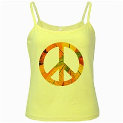 Pease,love,music Old Yellow Spaghetti Tank