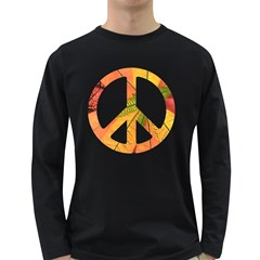 Pease,love,music Old Men s Long Sleeve T Shirt (dark Colored)