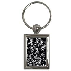 Shades Of Gray  And Black Oils #1979 Key Chain (rectangle)
