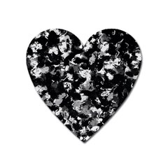 Shades Of Gray  And Black Oils #1979 Magnet (heart)