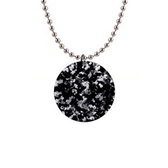 Shades Of Gray  And Black Oils #1979 Button Necklace