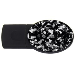 Shades Of Gray  And Black Oils #1979 4gb Usb Flash Drive (oval)