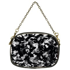 Shades Of Gray  And Black Oils #1979 Chain Purse (one Side)