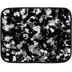 Shades Of Gray  And Black Oils #1979 Mini Fleece Blanket (Two Sided)