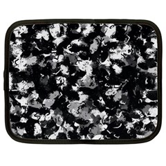 Shades Of Gray  And Black Oils #1979 Netbook Sleeve (xl)