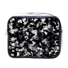 Shades Of Gray  And Black Oils #1979 Mini Travel Toiletry Bag (one Side)