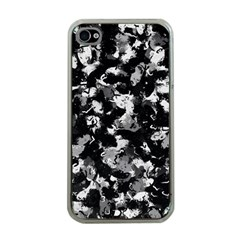 Shades Of Gray  And Black Oils #1979 Apple Iphone 4 Case (clear)
