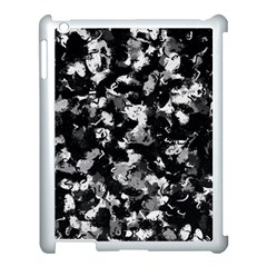 Shades Of Gray  And Black Oils #1979 Apple Ipad 3/4 Case (white)