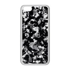 Shades Of Gray  And Black Oils #1979 Apple iPhone 5C Seamless Case (White)
