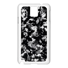 Shades Of Gray  And Black Oils #1979 Samsung Galaxy Note 3 N9005 Case (white)
