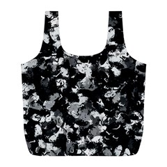 Shades Of Gray  And Black Oils #1979 Reusable Bag (L)