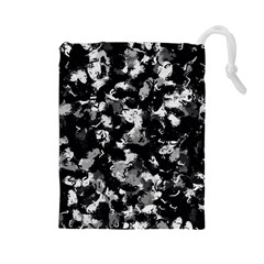 Shades Of Gray  And Black Oils #1979 Drawstring Pouch (Large)