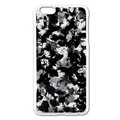Shades Of Gray  And Black Oils #1979 Apple iPhone 6 Plus Enamel White Case