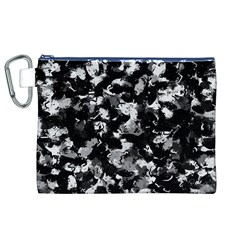 Shades Of Gray  And Black Oils #1979 Canvas Cosmetic Bag (XL)