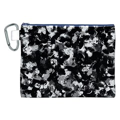 Shades Of Gray  And Black Oils #1979 Canvas Cosmetic Bag (XXL)