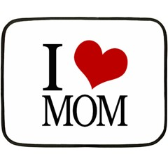 I Heart Mom Mini Fleece Blanket (two Sided)