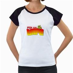 Vape For Your Life  Women s Cap Sleeve T-Shirt (White)