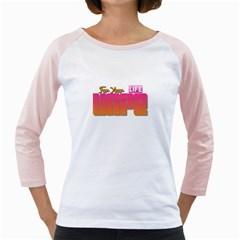 Vape For Your Life  Women s Long Cap Sleeve T-Shirt (White)