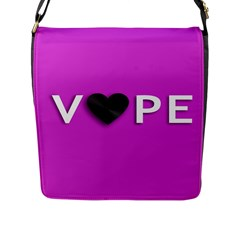Vape Heart Flap Closure Messenger Bag (large)
