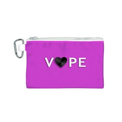 Vape Heart Canvas Cosmetic Bag (small)