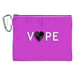 Vape Heart Canvas Cosmetic Bag (XXL)