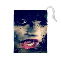 Abstract Grunge Jessie J  Drawstring Pouch (large)
