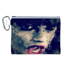 Abstract Grunge Jessie J  Canvas Cosmetic Bag (Large)