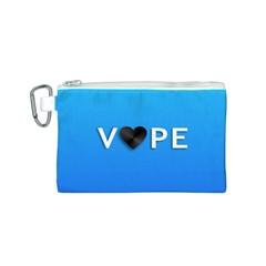 Vape Heart  Canvas Cosmetic Bag (Small)