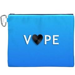 Vape Heart  Canvas Cosmetic Bag (XXXL)