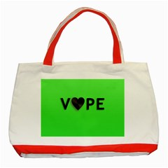 Vape Heart Classic Tote Bag (Red)